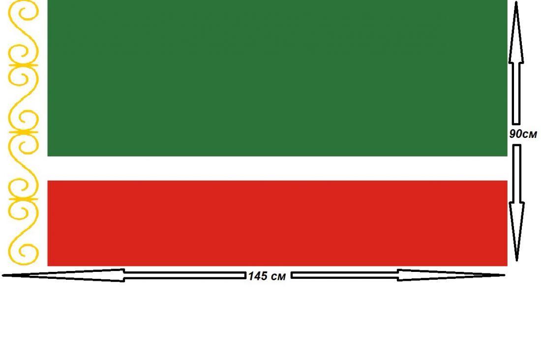 Флаг Чеченской Республики 90х145см.