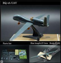 Сборная модель самолета RQ-4 Global Hawk беспилотник без клея