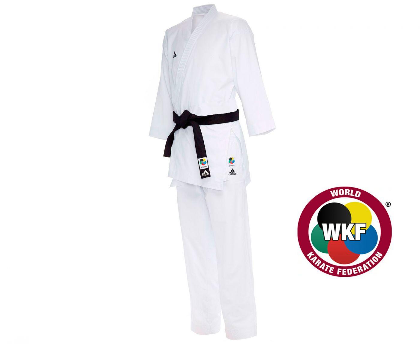 Кимоно для карате Adidas AdiLight WKF белое, размер 170 см, артикул K191SK
