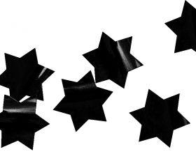 Конфетти фольга, звёзды, чёрные, 3 см, 30 гр