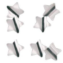 Конфетти фольга, звёзды, серебро, 3 см, 50 гр