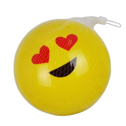 1toy мяч ПВХ, смайлик 23 см, в ассортименте, в сетке