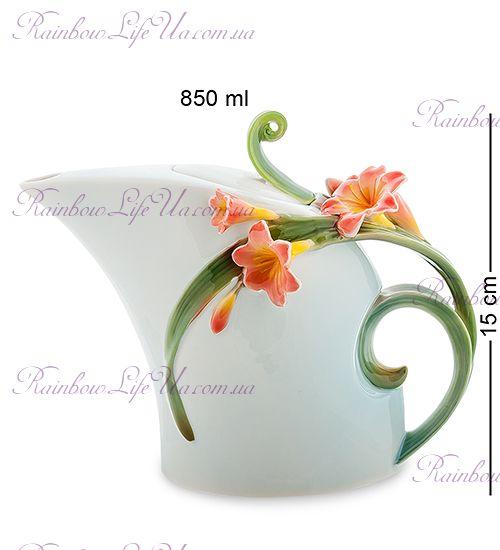 "Чайник заварочный Цветок кливия ""Pavone"""