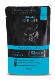 FITMIN Пауч для кошек Кусочки с уткой в соусе 85 г