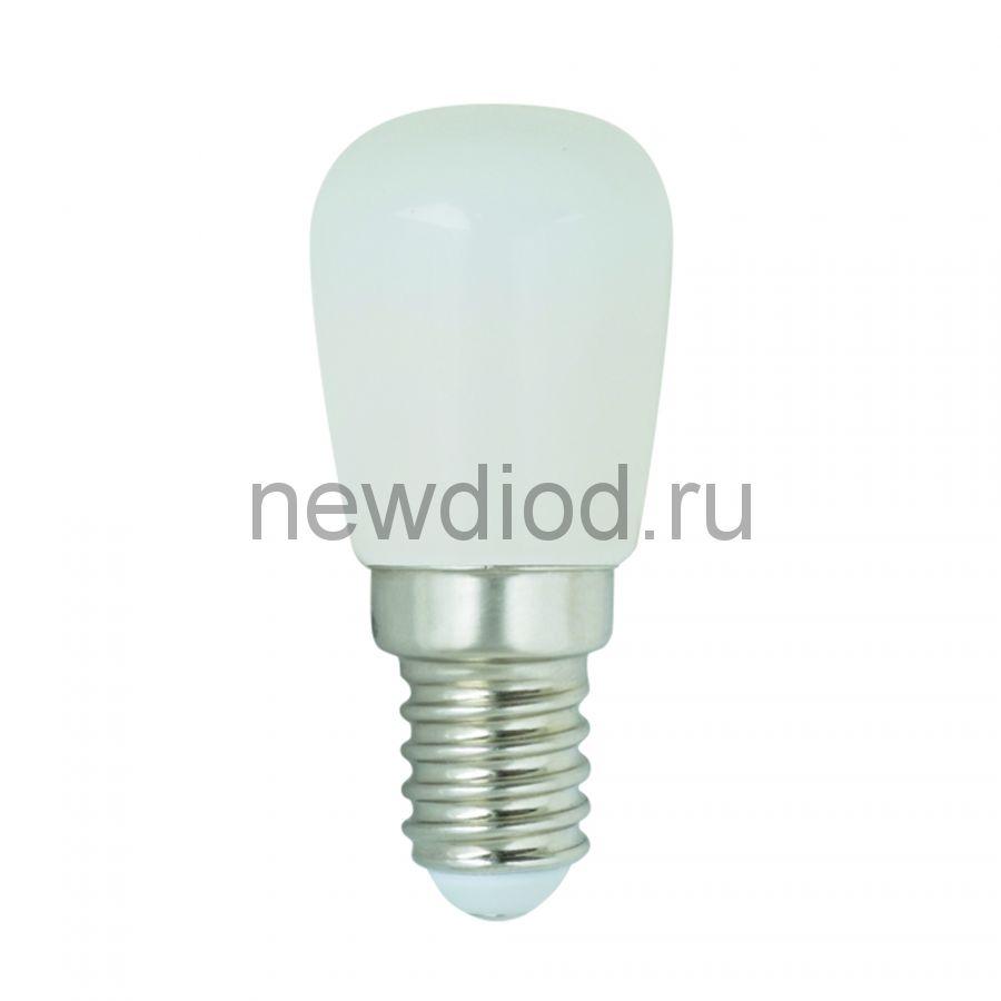 Лампа светодиодная для холодильников, матовая. Теплый белый свет (3000K). Картон. TM Volpe