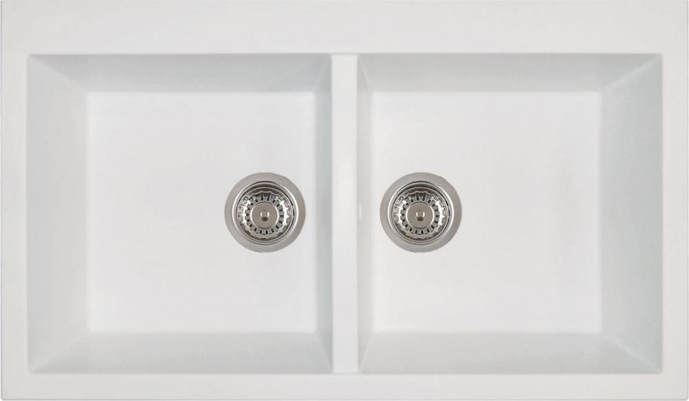 Врезная кухонная мойка Longran Amanda AMG 860.500 20-07 Alpina(белый)