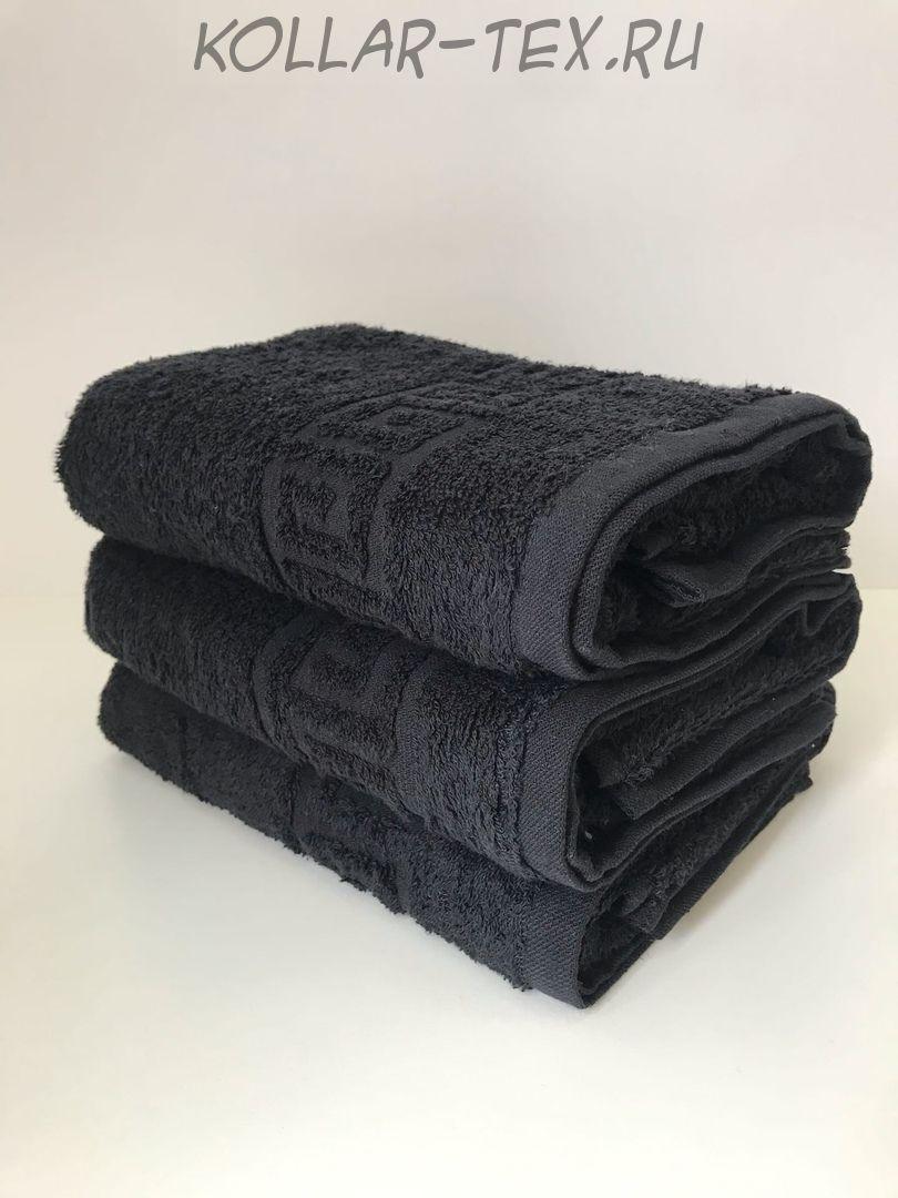 Комплект махровых полотенец черный, Туркменистан