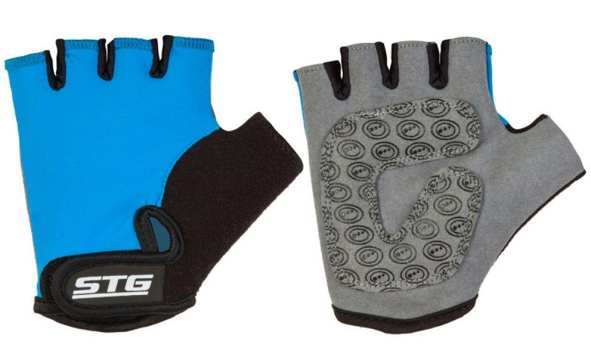 Велосипедные перчатки STG X87905 детские цвет синий/черный