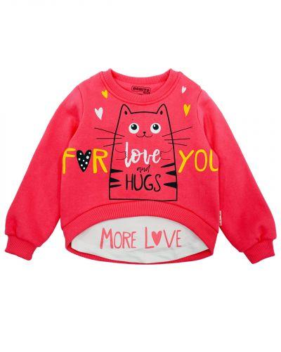 "Свитшот для девочек 3-7 лет Bonito kids ""More love"""