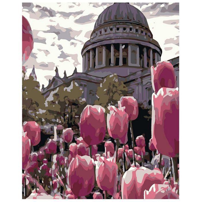Картина по номерам Тюльпаны в Лондоне 40*50 см HS0381