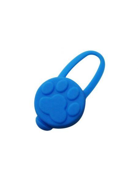 Брелок-маячок для кошек и собак Лапка, цвет синий