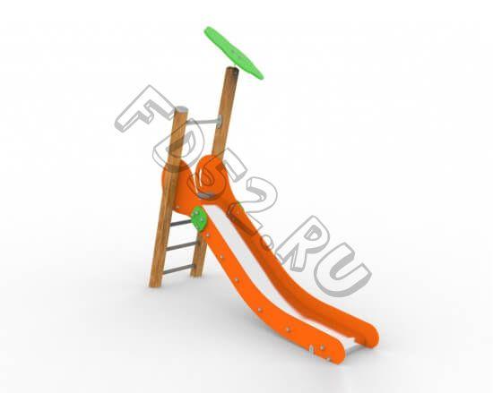 Горка «Росток с навесом»  41.04.03 (Высота ската 1м)