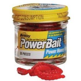 Силиконовая приманка червь Berkley PowerBait 2,5 см красная (1089416) 55 шт