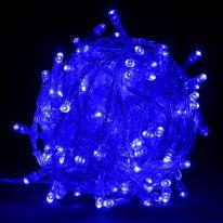 Однотонная гирлянда-нить, 100 ламп 8.5 м., синий