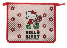 Папка для тетрадей А5 Hello Kitty молния сверху, ламинированный картон, для девочки