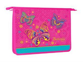 Папка для тетрадей пластиковая Hatber Butterfly А5 AMc_51048
