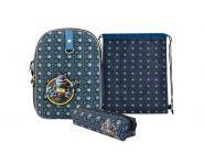 Школьный рюкзак Action! AZ-ASB4614/2 Алиса синий с наполнением