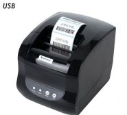 Термальный принтер этикеток Xprinter XP-365B черный