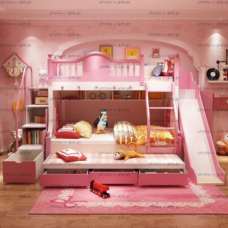 Кровать двухъярусная домик Принцесса Fantasy №IR07