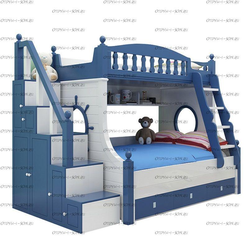 Кровать двухъярусная домик Принцесса Fantasy №IR11