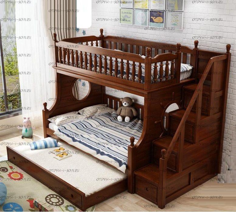 Кровать двухъярусная домик Принцесса Fantasy №IR12+