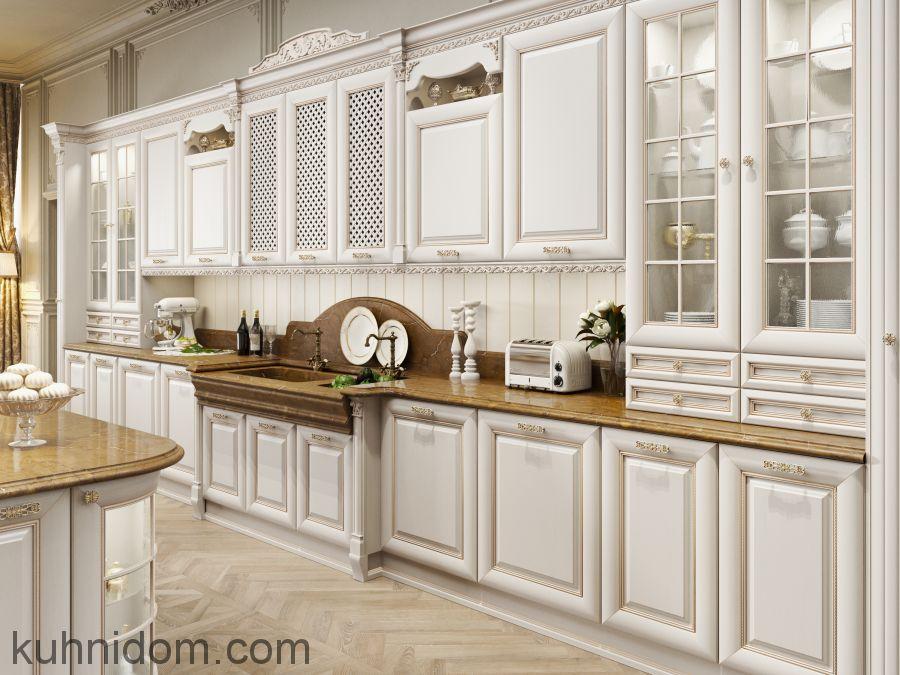 Кухня Монца с витринами
