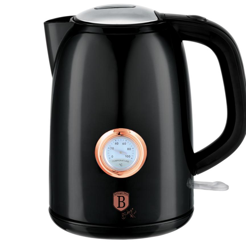 Чайник электрический с таймером Berlinger Haus BH 9077  Black Rose