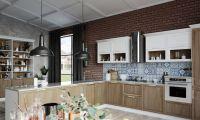 Кухня Милан Дуб с буфетом