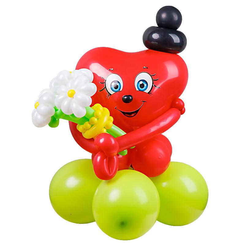 Фигура из воздушных шаров Валентинка