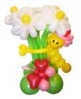"""Цветы из шаров """"клумб с гусеницей"""""""