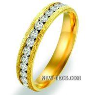 Обручальное кольцо с алмазной крошкой (4 мм)