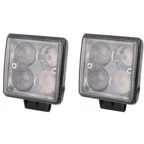 Светодиодные фары 24W 4D дальнего света комплект