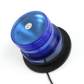Светодиодный проблесковый маяк 30 ватт Двухрежимный синий 12 -24V