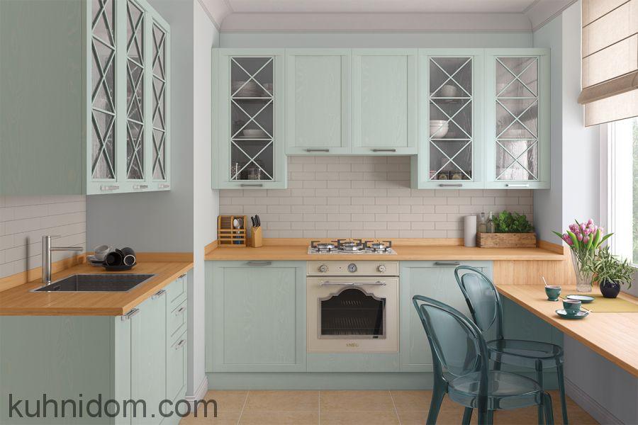 Кухня Портофино Лаванда с витринами