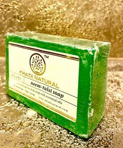 НАТУРАЛЬНОЕ МЫЛО КХАДИ НИМ ТУЛСИ (KHADI NEEM TULSI SOAP), 125 гр
