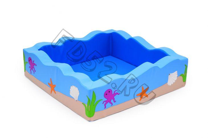 Сухой бассейн квадратный «Волна»