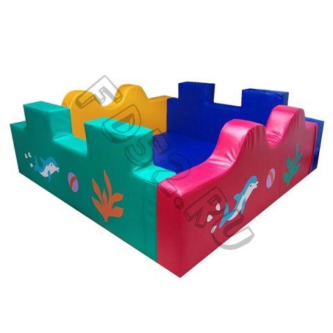 Сухой бассейн квадратный «Коралл»
