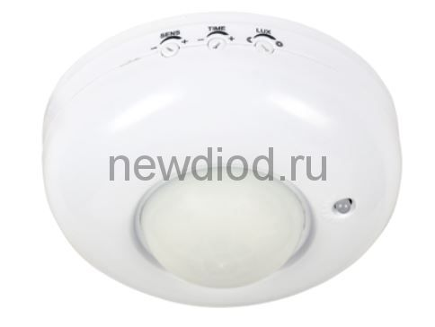 Датчик движения инфракрасный ДД 020B 800Вт 360 гр.6м IP33 белый IN HOME