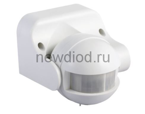 Датчик движения инфракрасный ДД 009 1200Вт 180 гр.12м IP44 белый IN HOME