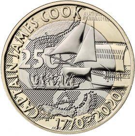 250 лет путешествию Джеймса Кука 2 фунта Великобритания 2020 Буклет.