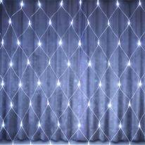 Светодиодная гирлянда Сетка 160 LED, 1.5х1.5 м, белый холодный