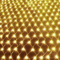 Светодиодная гирлянда Сетка 160 LED, 1.5х1.5 м, белый тёплый