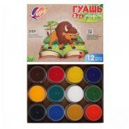 Гуашь 12 цветов 15мл Луч Zoo картонная коробка 19С 1252-08