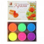 Краска акриловая 6 цветов 15мл Луч Флуоресцентные картонная коробка