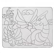 Трафарет для рисования красками по стеклу Дракончики / Жираф и компания / Кенгуру / Кулончики / Лось / Петушок / Улитка