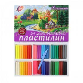 Пластилин восковой Луч Фантазия 24цв стек 420г 25С 1525-08