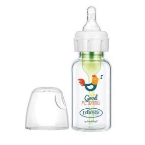 """Dr.Brown's бутылочка с узким горлышком """"Options+"""" с соской 1го уровня от 0 месяцев, 120 мл, СТЕКЛО (арт.SB41631)"""