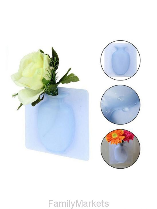 Настенная силиконовая ваза для цветов