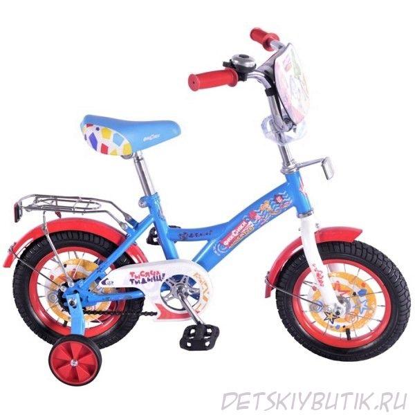 """Велосипед детский из серии «Фиксики» gw-тип 12"""", цвет сине-красный"""