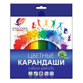 Карандаши цветные 24 цв, 6-гран, ЛУЧ Классика, 29С 1712-08
